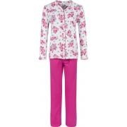 Pastunette Dames doorknoop pyjama roze rozen van Pastunette