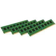 Kingston KVR16R11D8K4/32I Memoria RAM da 32 GB, 1600 MHz, DDR3, ECC Reg CL11 DIMM Kit (4x8 GB), 240-pin, Certificata Intel