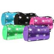 Lil Princess Dance Bag Sequin Star Round Duffle Purple