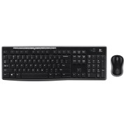 Kit tastatura si mouse Logitech Wireless Desktop MK270 USB 2.0 Negru