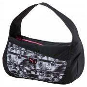 プーマ スタジオ バレル バッグ ウィメンズ Puma Black-Puma White-graphic