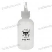 Alcool et récipient de liquide distribution bouteille w / entonnoir et aiguille - blanc (100ml)