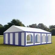 Profizelt24 Partyzelt 5x8m PVC blau-weiß Gartenzelt, Festzelt, Pavillon