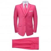 vidaXL Completo da Uomo a Due Pezzi Rosa con Cravatta Taglia 54