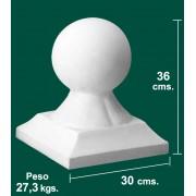 Remate de Bola para Balaustradas de 30x30x36