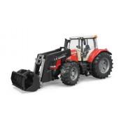Bruder - 3047 - Véhicule Miniature - Tracteur Massey Ferguson 7600 Avec Fourche - Rouge