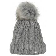 PIKEUR Mütze mit Fellbommel - grey/melange