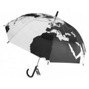 Paraguas mapamundi adulto transparente