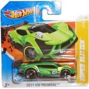 2011 Hot Wheels SUPER BLITZEN (green) #17/50 HW Premier original concept car (SHORT CARD) by Mattel