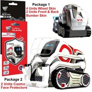 For Cozmo Robot Face Screen Guard KIT Excellent protector from unexpected attacks of kids and pets. Wheels & Bumpers Decoration Set (Black Carbon Fiber)