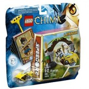 Includes Lennox minifigure with 2 weapons-Features Jungle Gates 2 fire cones lion Speeder rip cord power-up 6 CHI