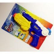 Hot Shot Water Blaster Pump Water Gun Holds 6 oz. of Water (Blue & Yellow)