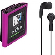 Polaroid PMP120-4PK Built-In Sports Clip Touch Screen Mp3 Player with Noise Isolating Earbuds for Sport Activities (pink