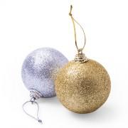 Set de bolas de Navidad Plata/oro