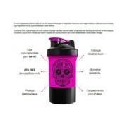 Coqueteleira 2 Doses Feminina e Porta Cápsulas - 400 ml - Integralmédica