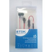 TDK S5 слушалки Червени