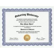 Go Kart Gokart Karting Degree: Custom Gag Diploma Gocart Doctorate Certificate (Funny Customized Joke Gift - Novelty Item)