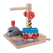 Bigjigs Rail Gravel Crane for Train Set