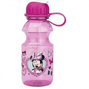 Zak! Designs Tritan Water Bottle with Flip-up Spout with Minnie Mouse Graphics Break-resistant and BPA-free plastic 14