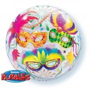 """Balon Bubble 22""""/56cm Qualatex, Masquerade, 90599"""