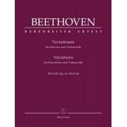 BARENREITER BEETHOVEN - VARIATIONS WoO 45, OP.66, WoO 46 - VIOLONCELLE & PIANO Partition classique Cordes Violoncelle