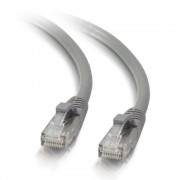 C2G 0.3m Cat5e Booted Unshielded (UTP) Network Patch Cable - Grey