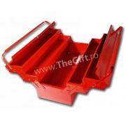 Cutie metalica mare pentru scule, cu 5 compartimente