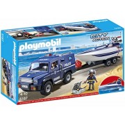 Playmobil Police Truck with Speedboat, Multi Color