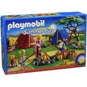 Playmobil Summer Fun Camp Site with LED Fire - sets de juguetes (Acción / Aventura, Niño/niña, Multicolor, De plástico)