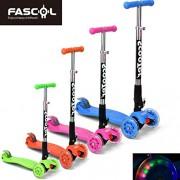 FASCOL® Twist & Roll Patinete scooter plegable para niños con 3 ruedas y PU LED flash ruedas,mini patinetes freestyle scooter in Azul(2-17 años)