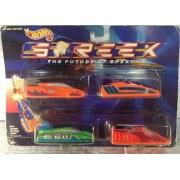 Hot Wheels Streex 4 Pack Futuristic Cars