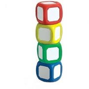Learning Advantage Inc Write-on Wipe-off Dice Set Assorted Colors Set of 4