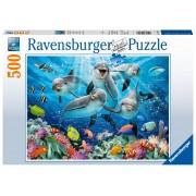 Ravensburger puzzle delfini, 500 piese