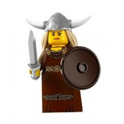 Lego Minifigures Series 7 Viking Woman Collectible Figure Village Warrior Sword Shield Monster