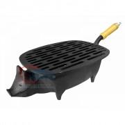 Churrasqueira de ferro porquinho com grelha