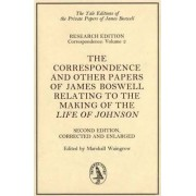 The Correspondence and Other Papers of James Boswell Relating to the Making of Life of Johnson: Vol 2 by Marshall Waingrow