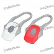 2-Mode Red + White LED Light Tie-On Bike Lights - Pair (2 x CR2025)