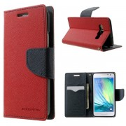 Korean Mercury Fancy Diary Wallet Case for Samsung Galaxy A3 - Red