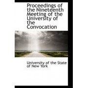 Proceedings of the Nineteenth Meeting of the University of the Convocation by University Of the State of New York
