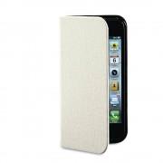Husa Flip Cover Verbatim Folio Pocket alba pentru Apple iPhone 5
