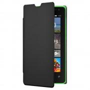 Etui Rabat Latéral Folio Noir Pour Microsoft Lumia 435 Et Lumia 532