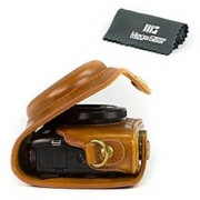 MegaGear Ever Ready Protective Leather Camera Case Bag for Canon PowerShot G7 X Digital Camera (Light Brown)