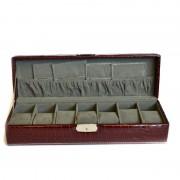Cutie pentru ceasuri - model rosu negru visiniu