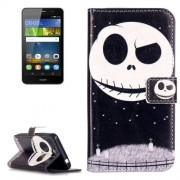 Huawei Y6 Pro Embossment Ghost Star Pattern Horizontal Flip Leather Case with Holder & Card Slots & Wallet