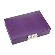 Purple Lidded Mini Stacker With Polka Dot Lining