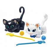 "Pet Parade ""Cat And Persian"" Kitten Toy (Pack Of 2, Black/White)"