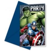 Bosszúállók party meghívó (6 db-os)