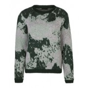 Dames knitted camo pattern trui