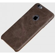 Cables Kart Series Soft PU Leather Back Case Cover for Apple iPhone 6 6S (Dark Brown)