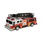"""Toy State - 14"""" Rush & Rescue, camión de bomberos con escalera y gancho (34555)"""